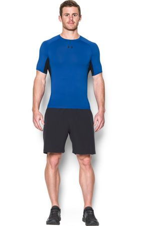 Under Armour HG Armour SS Blue Marker Black S