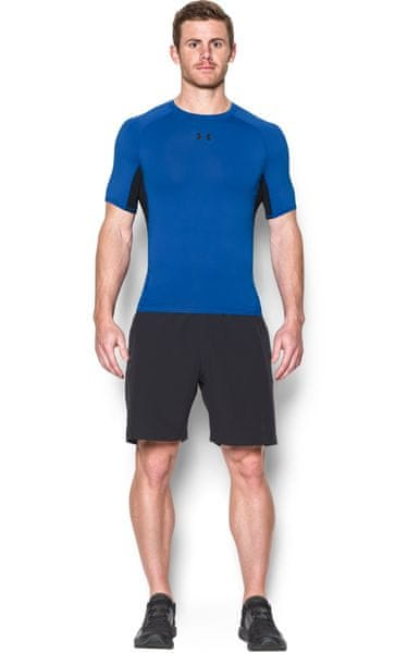 Under Armour HG Armour SS Blue Marker Black M