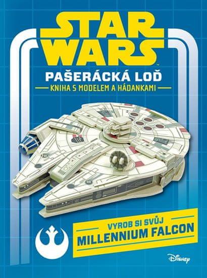 Disney Walt: Star Wars - Pašerácká loď - Kniha s modelem a hádankami