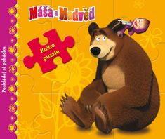 Disney Walt: Máša a medvěd - Kniha puzzle