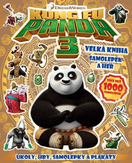 Kung Fu Panda 3 - Velká kniha samolepek a her