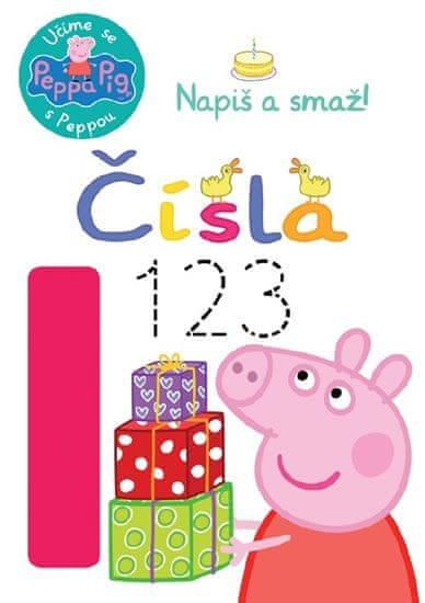 Peppa Pig Učíme se s Peppou, Napiš a smaž! Čísla