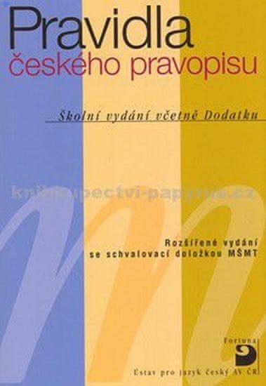 Martincová a kolektiv Olga: Pravidla českého pravopisu – Školní vydání včetně Dodatku