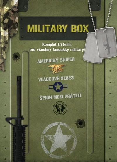 kolektiv autorů: Military BOX 3 knihy (Americký sniper, Vládcové nebes, Špion mezi přáteli)