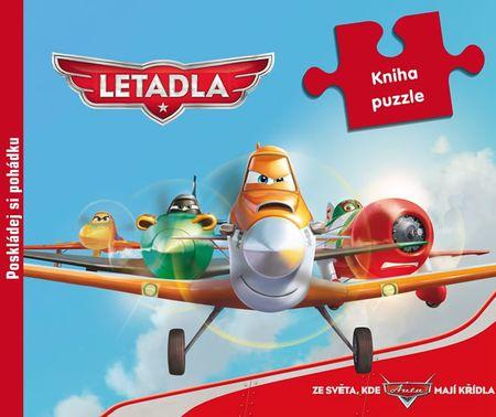 Disney Walt: Letadla - 9 dílná kniha puzzle