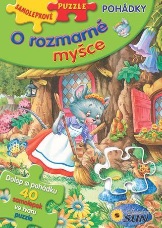 O rozmarné myšce - Samolepkové puzzle pohádky
