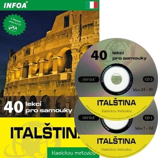 Noaro Pierre, Cifarelli Paolo: Italština - 40 lekcí pro samouky + 2 CD