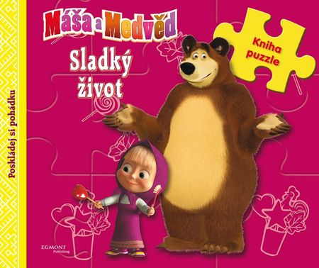 Animaccord: Máša a medvěd - Sladký život (kniha s puzzle)