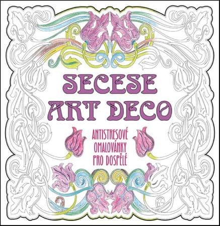 SECESE ARTDECO - Antistresové omalovánky pro dospělé