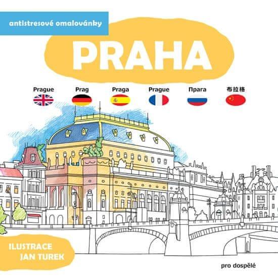 Turek Jan: Praha - Antistresové omalovánky