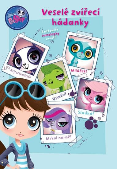 Hasbro: Littlest Pet Shop - Veselé zvířecí hádanky + samolepky