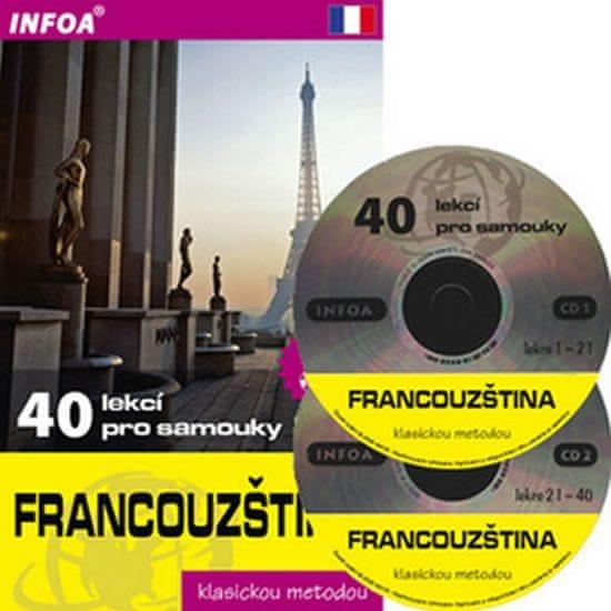 Nouschi Sylviane, Gandilhon Nicole: Francouzština - 40 lekcí pro samouky + 2 CD