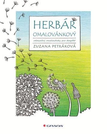 Petráková Zuzana: Herbář omalovánkový - Relaxační omalovánky pro dospělé