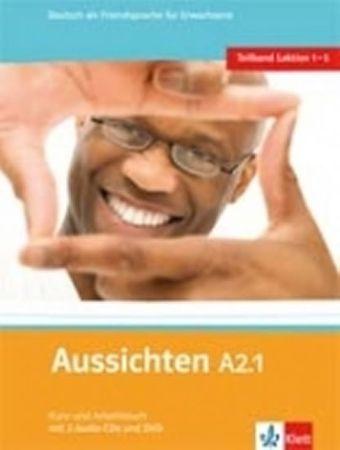 Hosni a kolektiv L. Ros-El: Aussichten A2.1 Kurs-und Arbeitsbuch + CD + DVD