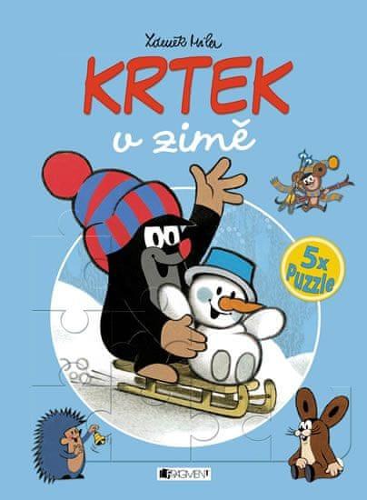 Fischerová Milena: Krtek v zimě - 5x puzzle