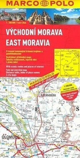 Východní Morava/ mapa