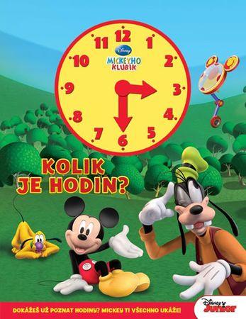 Disney Walt: Mickeyho klubík - Kolik je hodin (kniha s hodinami)