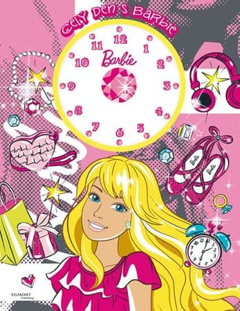 Mattel: Barbie - Celý den s Barbie (kniha s hodinami)