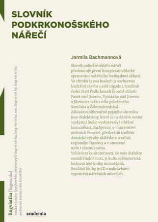 Bachmannová Jarmila: Slovník podkrkonošského nářečí