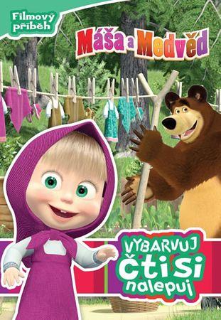 Disney Walt: Máša a medvěd - Fimový příběh - Vybarvuj, čti si, nalepuj