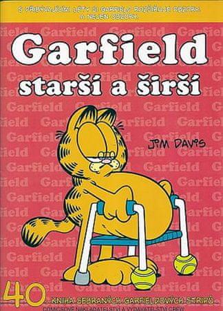 Davis Jim: Garfield Starší a širší (č.40)