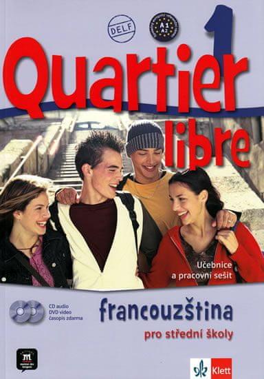Bosquet a kolektiv M.: Quartier libre 1 - učebnice + CD+ DVD + časopis La revue de jeunes