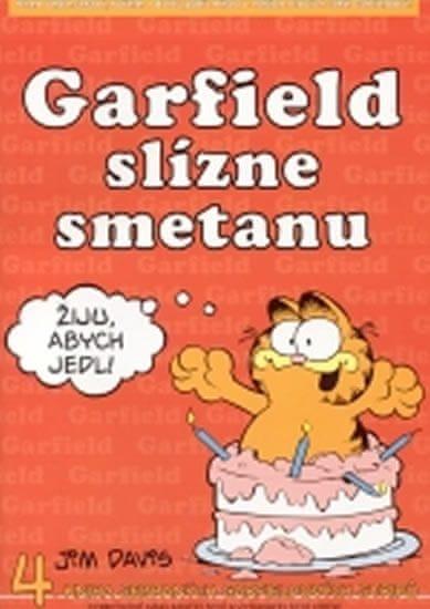 Davis Jim: Garfield slízne smetanu - 4. kniha sebraných garfieldových stripů - 3. vydání