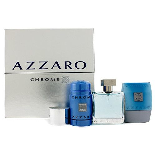 Azzaro Chrome - EDT 50 ml + tuhý deodorant 75 ml + balzám po holení 75 ml