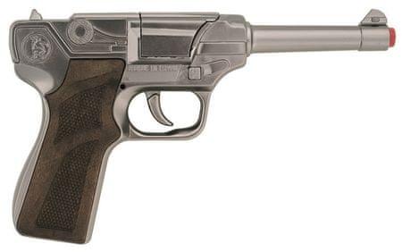 Gonher Rendőrségi pisztoly ezüst, fém, 8 lövés