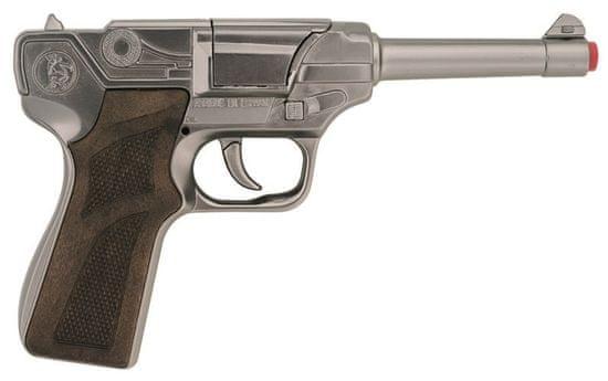 Gonher Policajná pištoľ strieborná kovová 8 rán