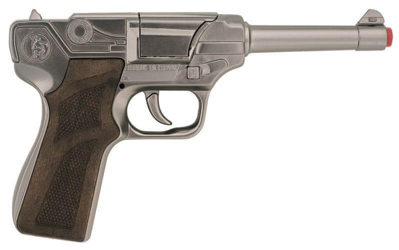 Gonher Policejní pistole stříbrná kovová 8 ran