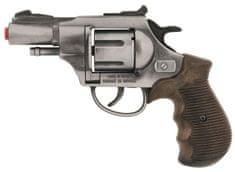 Gonher Gold colection rendőrségi revolver, fém, ezüst, 12 lövés