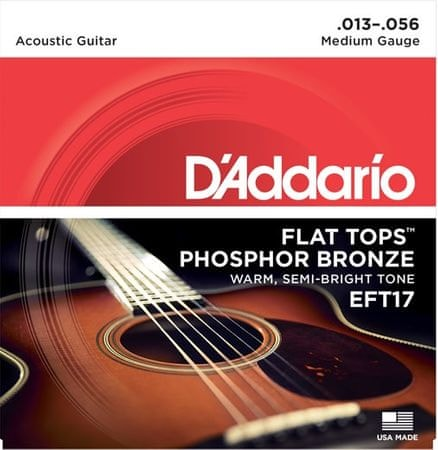 Daddario EFT17 Kovové struny pro akustickou kytaru