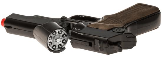 Gonher Policajná pištoľ čierna kovová 8 rán
