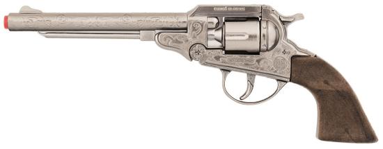 Gonher Revolver kovbojský strieborný, kovový 8 rán
