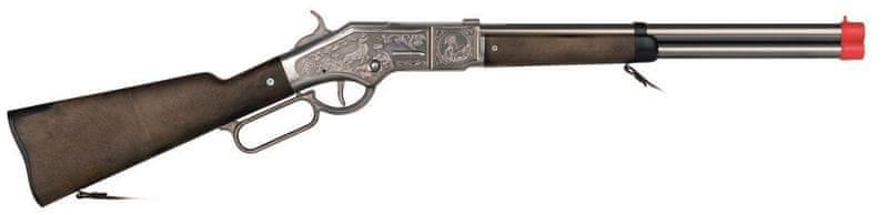 Gonher Puška kovbojská stříbrná kovová