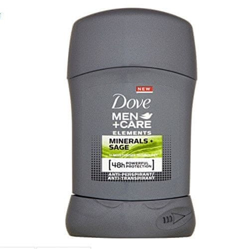 Dove Tuhý deodorant pro muže Elements Minerals & Sage Men+Care 50 ml