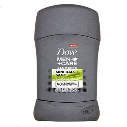 Dove Tuhý deodorant pro muže Elements Minerals & Sage Men+Care 50 ml
