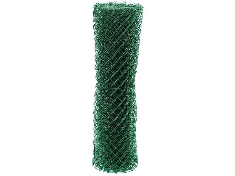 Čtyřhranné pletivo Zn+PVC (s ND) - výška 150 cm, zelená, 15 m