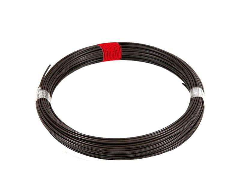 Napínací drát Zn+PVC 66m, 2,25/3,40, hnědý (červený štítek)