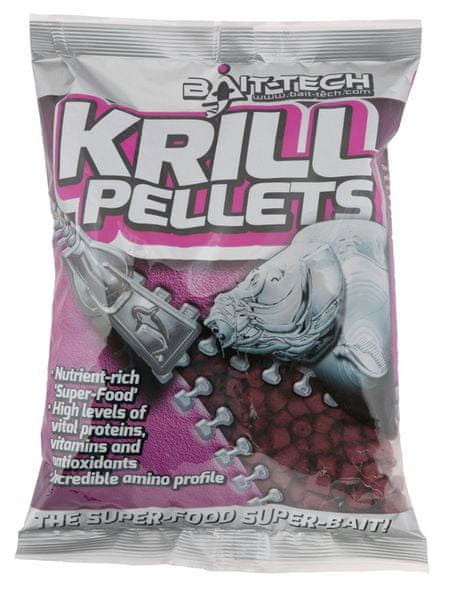 Bait-Tech pelety krill pre-drilled 20 mm 900 g