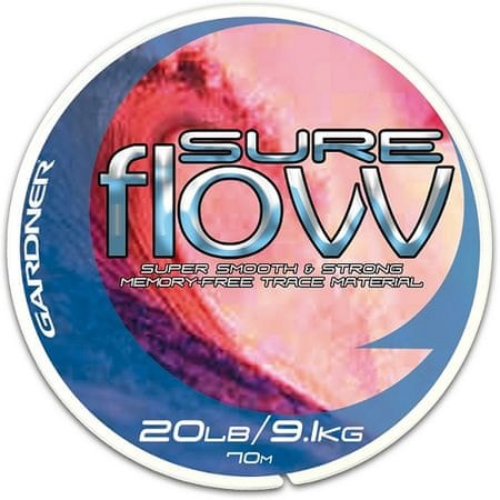 Gardner - Návazcový vlasec  Sure Flow 70 m crystal 20lb/9,1kg