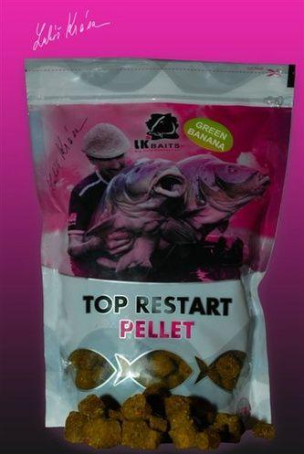 Lk Baits top restart pellet 12/17 mm 5 kg green banana + 100 ml booster