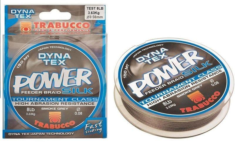 Trabucco Splétaná Šňůra Dyna Tex Power Silk Feeder 150 m Tmavě Zelená 0,08 mm, 3,6 kg