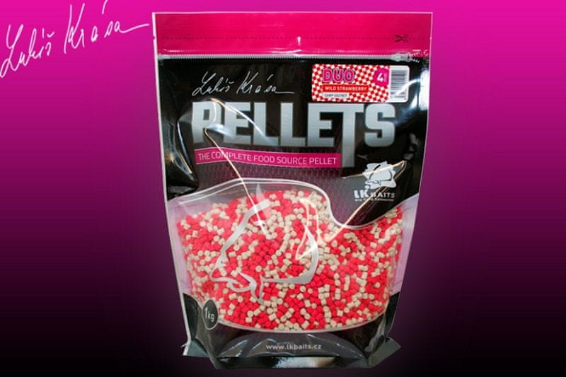 Lk Baits Pelety Duo Wild Strawberry Carp Secret 1 kg, 4 mm