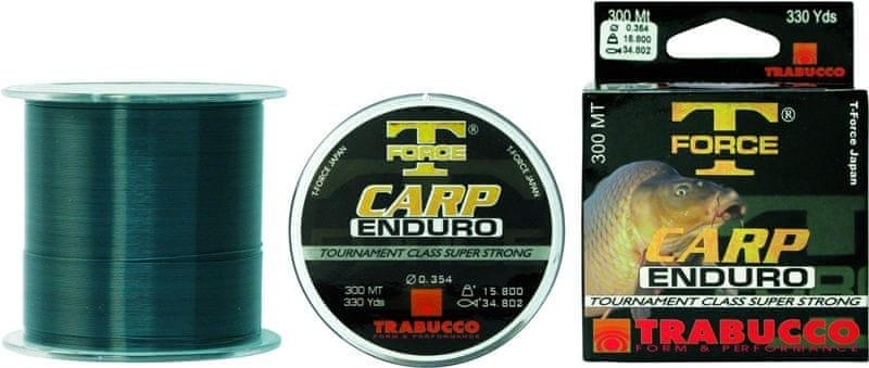 Trabucco Vlasec T-Force Enduro Carp Green 300 m 0,255 mm, 8,36 kg