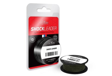 FIN Splietaná Šnúra Shock Leader 20m 0,24 mm, 35 lb