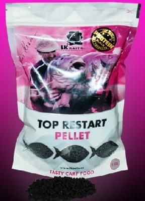 Lk Baits pelety top restart 4 mm 5 kg green banana + booster 100 ml