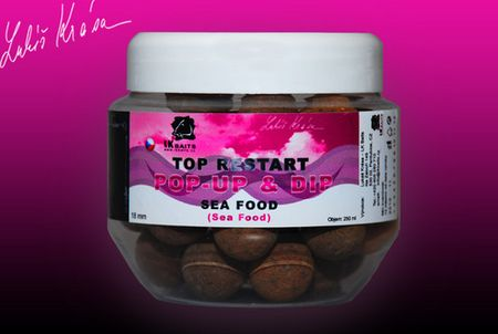 Lk Baits POP-UP TOP RESTART 14 mm 150 ml world record carp corn +DIP