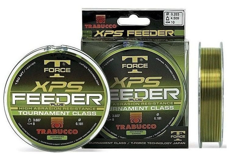 Trabucco Vlasec TF XPS Feeder Plus Camo 150 m 0,18 mm, 3,6 kg